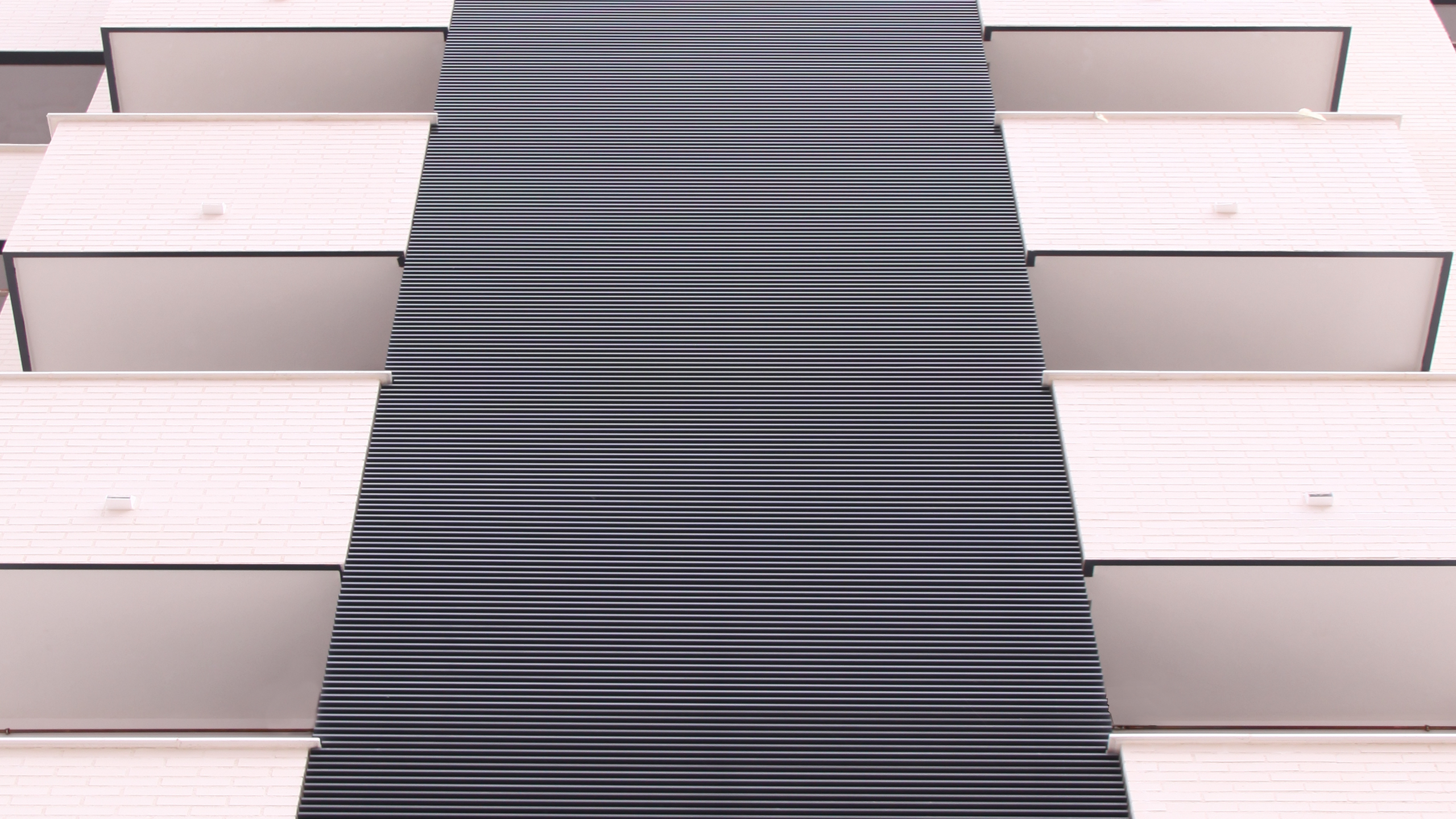 V-5 louvers installed in a residential building
