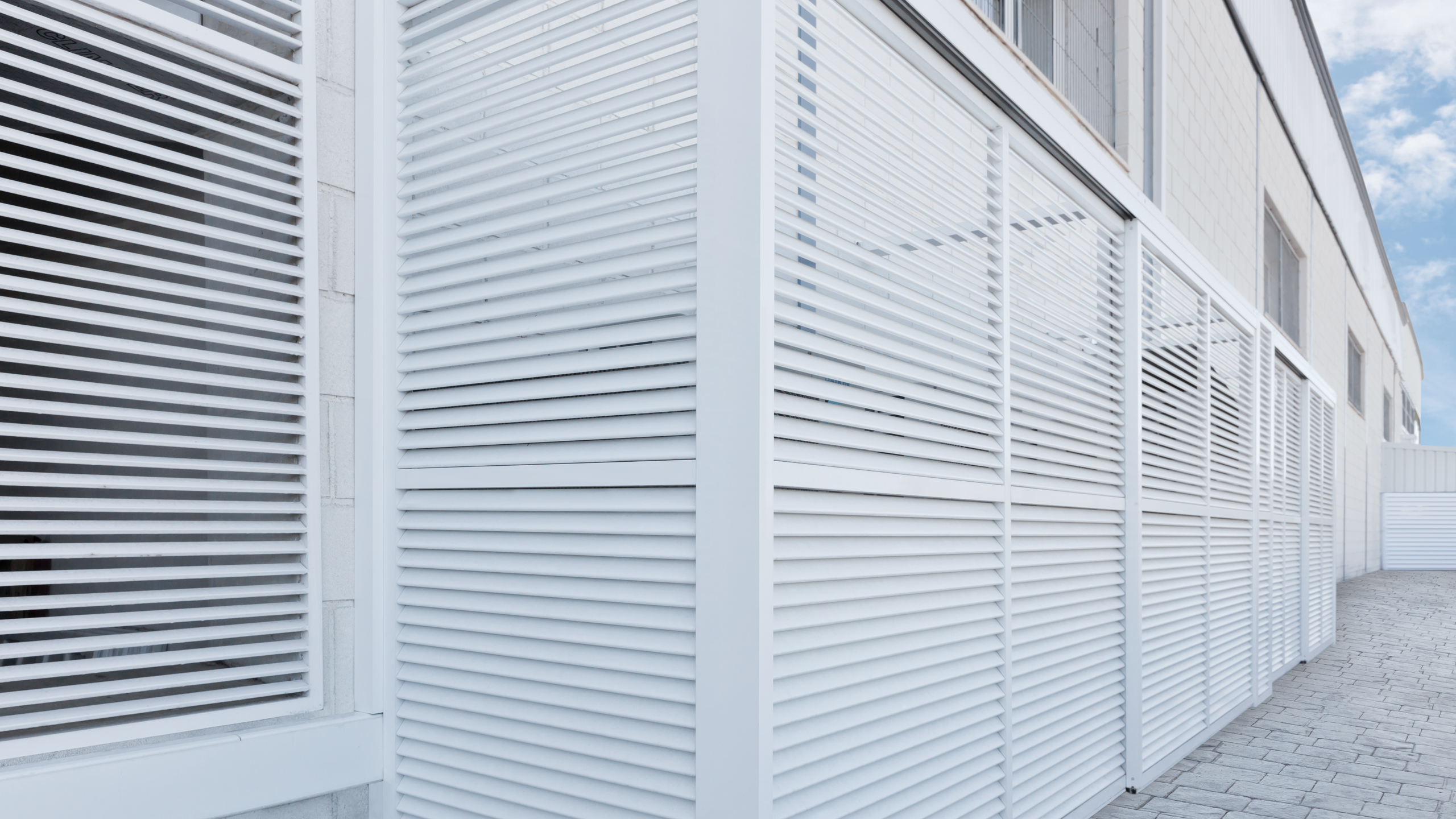 D-5 Louvers installed in an office building